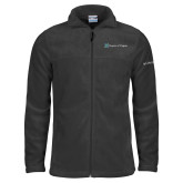 Columbia Full Zip Charcoal Fleece Jacket-Hospice of Virgina