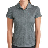 Ladies Nike Dri Fit Charcoal Crosshatch Polo-Serenity Hospice