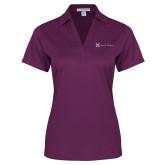 Ladies Purple Performance Fine Jacquard Polo-Serenity Hospice