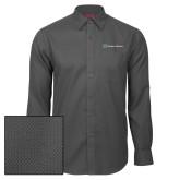 Red House Dark Charcoal Diamond Dobby Long Sleeve Shirt-Hospice Partners