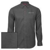 Red House Dark Charcoal Diamond Dobby Long Sleeve Shirt-Alamo Hospice