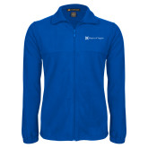 Fleece Full Zip Royal Jacket-Hospice of Virgina