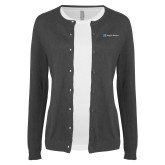 Ladies Charcoal Cardigan-Hospice Partners