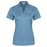 Ladies Light Blue Performance Fine Jacquard Polo-Serenity Hospice