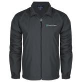 Full Zip Charcoal Wind Jacket-Hospice of Virgina
