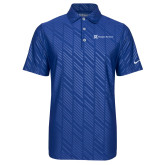 Nike Dri Fit Royal Embossed Polo-Hospice Partners