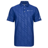 Nike Dri Fit Royal Embossed Polo-Hospice of Virgina