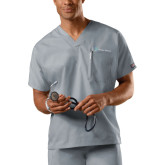 Unisex Grey V Neck Tunic-Hospice Partners
