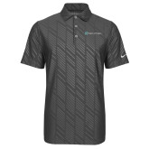 Nike Dri Fit Charcoal Embossed Polo-Hospice of Virgina