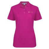 Ladies Easycare Tropical Pink Pique Polo-Hospice of Virgina