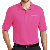 Tropical Pink Easycare Pique Polo-Hospice of Virgina