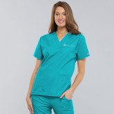 Turquoise VNeck Top-Hospice of Virgina