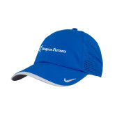 Nike Dri Fit Royal Perforated Hat-Hospice Partners