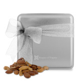 Deluxe Nut Medley Silver Medium Tin-Hospice of Virgina  Engraved