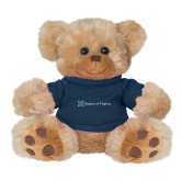 Plush Big Paw 8 1/2 inch Brown Bear w/Navy Shirt-Hospice of Virginia