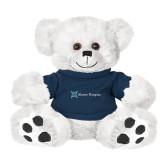 Plush Big Paw 8 1/2 inch White Bear w/Navy Shirt-Alamo Hospice