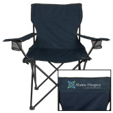 Deluxe Navy Captains Chair-Alamo Hospice - Tagline