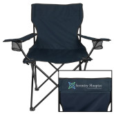 Deluxe Navy Captains Chair-Serenity Hospice - Tagline