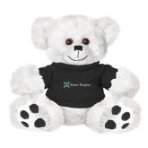 Plush Big Paw 8 1/2 inch White Bear w/Black Shirt-Alamo Hospice