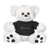 Plush Big Paw 8 1/2 inch White Bear w/Black Shirt-Hospice of Virginia