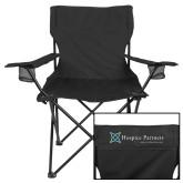 Deluxe Black Captains Chair-Hospice Partners - Tagline