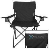Deluxe Black Captains Chair-Alamo Hospice - Tagline