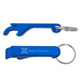 Aluminum Blue Bottle Opener-Alamo Hospice  Engraved