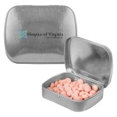 Silver Rectangular Peppermint Tin-Hospice of Virginia