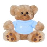 Plush Big Paw 8 1/2 inch Brown Bear w/Light Blue Shirt-Alamo Hospice