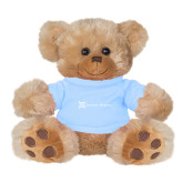Plush Big Paw 8 1/2 inch Brown Bear w/Light Blue Shirt-Serenity Hospice