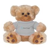 Plush Big Paw 8 1/2 inch Brown Bear w/Grey Shirt-Alamo Hospice