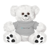 Plush Big Paw 8 1/2 inch White Bear w/Grey Shirt-Hospice of Virginia