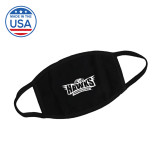 USA Made Black 3 Ply Cotton Mask-Facemask Logo