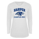 Ladies Syntrel Performance White Longsleeve Shirt-Campus