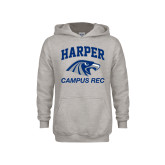 Youth Grey Fleece Hood-Campus
