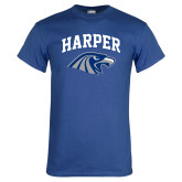 Royal T Shirt-Arched Harper Hawk Head
