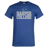 Royal T Shirt-Harper College Stacked