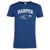 Ladies Royal T Shirt-Arched Harper Hawk Head