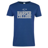 Ladies Royal T Shirt-Harper College Stacked