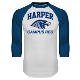 White/Royal Raglan Baseball T Shirt-Campus