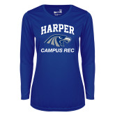 Ladies Syntrel Performance Royal Longsleeve Shirt-Campus