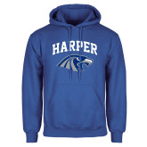 Royal Fleece Hoodie-Arched Harper Hawk Head