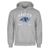Grey Fleece Hoodie-Wrestling