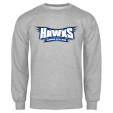 Grey Fleece Crew-Hawks