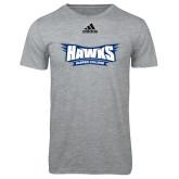 Adidas Sport Grey Logo T Shirt-Hawks