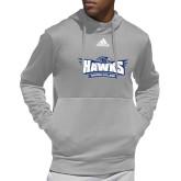 Adidas Grey Team Issue Hoodie-Primary Athletics Mark