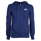 ENZA Ladies Royal Fleece Full Zip Hoodie-Primary Athletics Mark