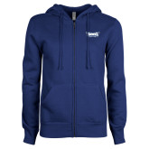ENZA Ladies Royal Fleece Full Zip Hoodie-Hawks