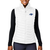 Columbia Lake 22 Ladies White Vest-Hawk Head