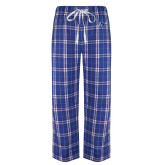 Royal/White Flannel Pajama Pant-Hawk Head